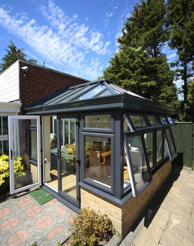 Conservatories Bournemouth - Conservatory at Showsite Apple Home Improvements