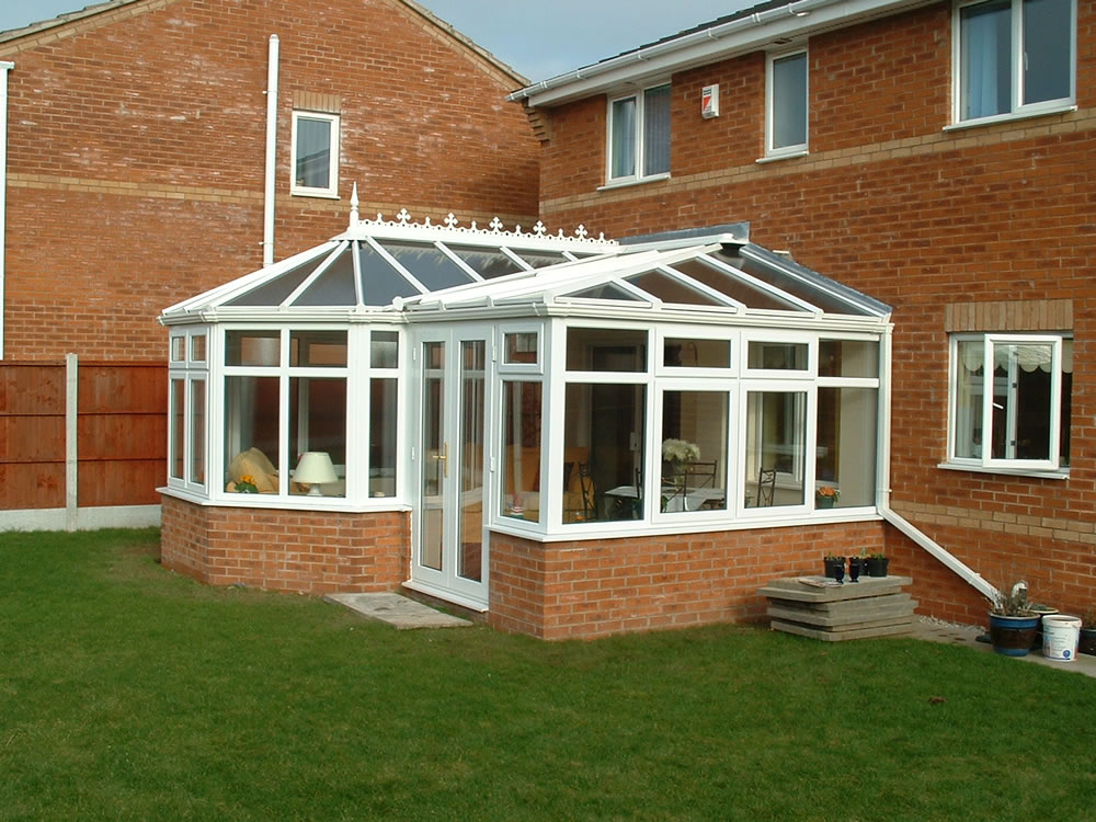 P Shape Conservatory Apple Home Improvements