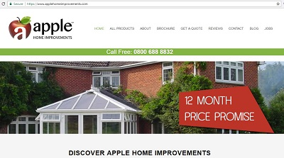 Apple Home Improvements Website Survey Prize Draw