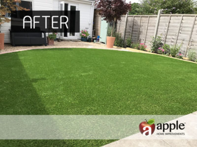 Completed Artificial Grass Project