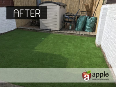 After - Artificial Grass Project