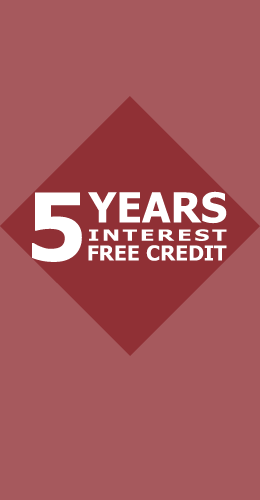 5 Years Interest Free Credit